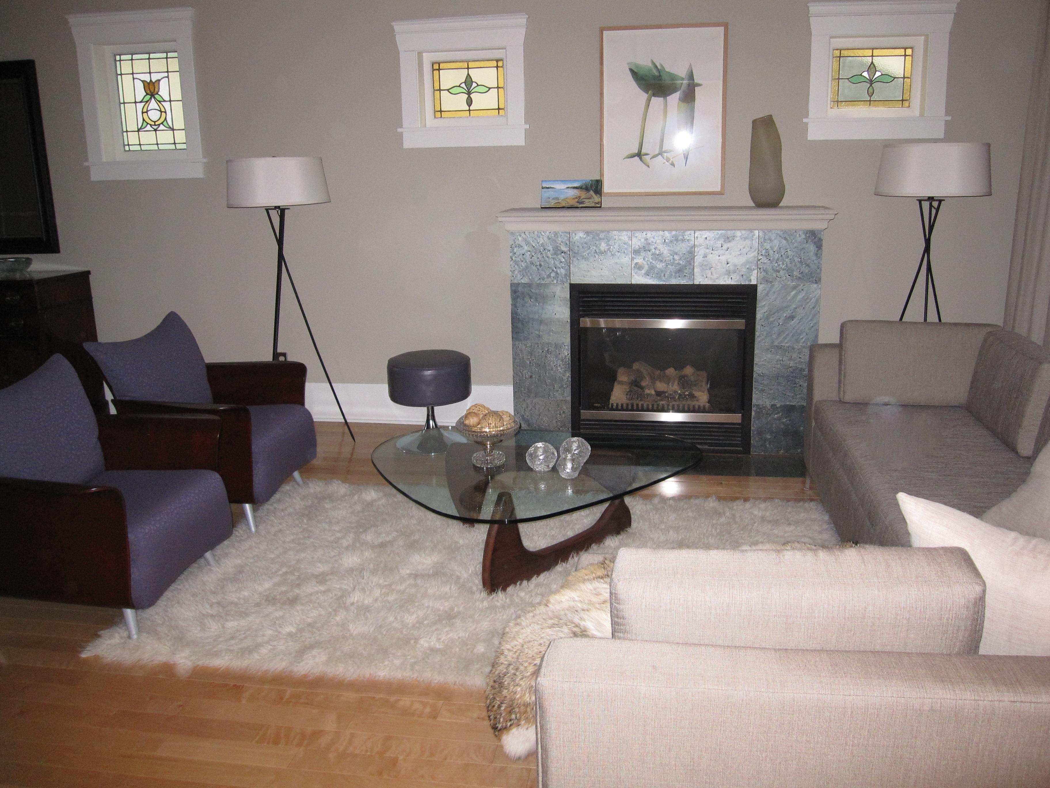 Balance vs symmetry modmissy for Living room versus family room