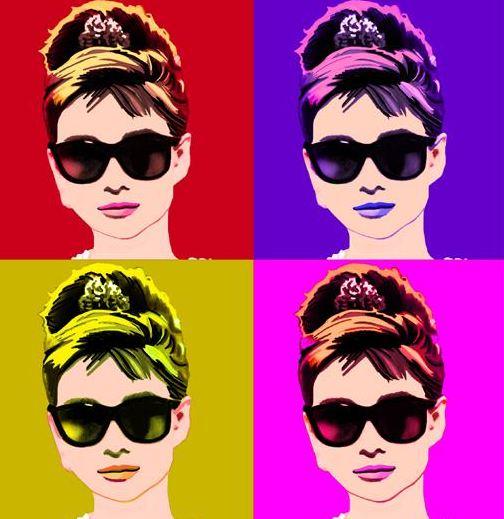 Audrey Hepburn Breakfast at Tiffanys MODMISSY : audrey hepburn pop art from modmissy.com size 504 x 519 jpeg 48kB