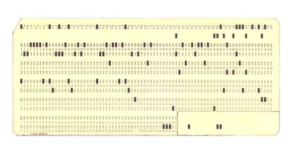 IBM Punch Card.