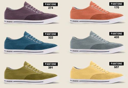 Pantone and Seavees shoes
