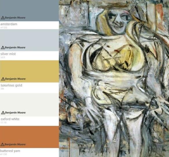 Willem De Kooning Woman lll Colour Palette