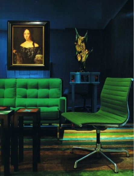Emerald Green and Blue room