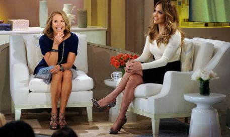 Katie Couric and Jennifer Lopez
