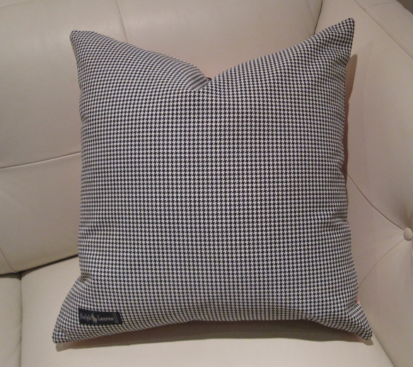 Ralph Lauren houndstooth pillow