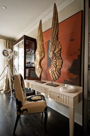 Angel wings in decor