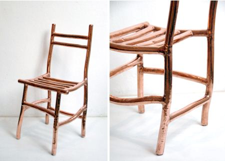 Nanocrystalline Copper Chair by Max Lamb