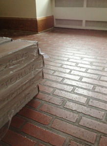 Faux red brick