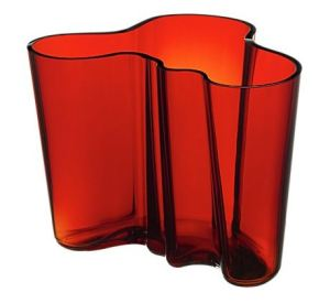 Alvar Aalto Flaming Red Vase