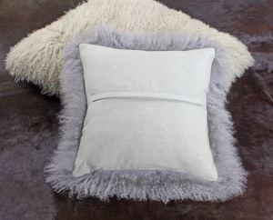 Mongolian fur cushion