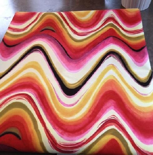 Retro Wavy Fabric