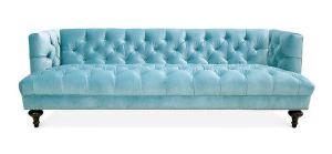 Jonathan Adler blue sofa